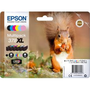Epson T378 blæk Multipack 6-farvet XL