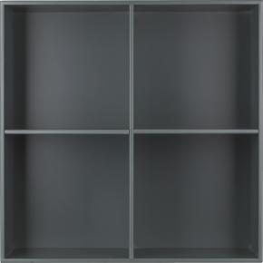 HAVANA reol m/4rum - Dark Grey,D.34, inkl. ophæng