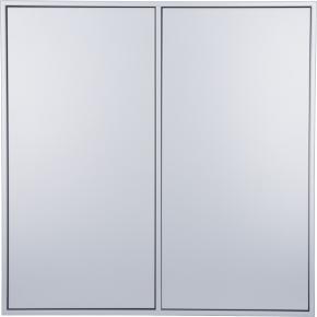 HAVANA skab m/4rum, 2 låger, lysgrå