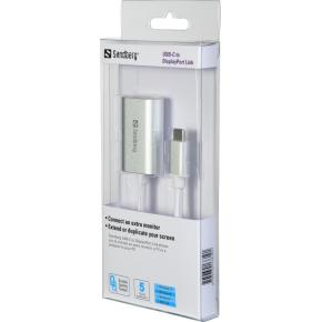 Sandberg USB-C til DisplayPort Link, sølv