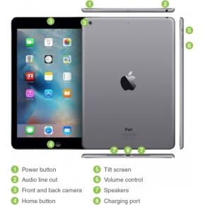 Refurbished Apple iPad Air, 16GB, spacegrey (B)