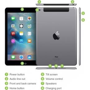 Refurbished Apple iPad Air+4G, 16GB, spacegrey (B)