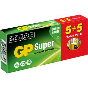 GP Super Alkaline  AAA batterier, 10 stk.