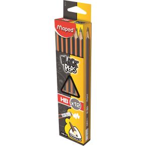 Maped trekantet blyant m/viskelæder, HB