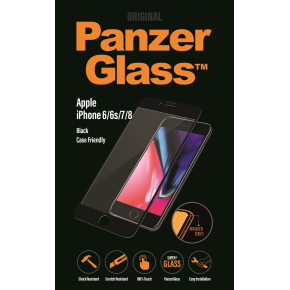 PanzerGlass til iPhone 6/6S/7/8, Jet Black