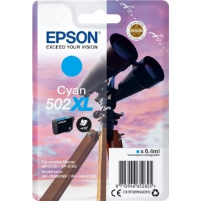 Epson T502 XL blækpatron cyan, 9.2ml
