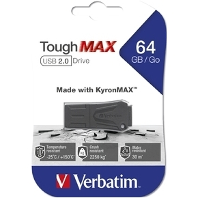 Verbatim USB 2.0 ToughMAX 64GB, sort