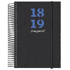 Mayland A6 studiekalender, uge, 2 farvede blade