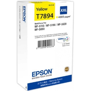 Epson C13T789440 XXL blækpatron, gul