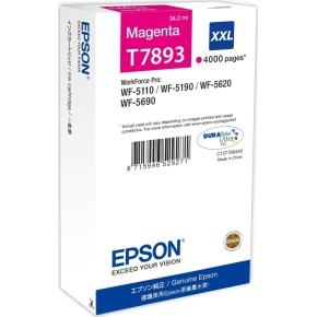 Epson T7893/C13T789340 XXL blækpatron, rød, 4000s