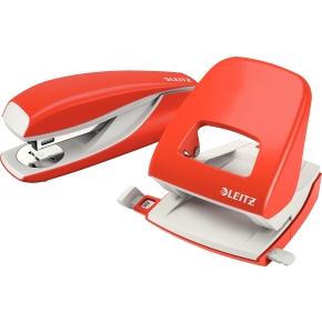 Leitz 5502 hæftemaskine, lys rød