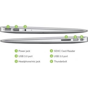 "Brugt Apple Macbook Air 13,3""Refurb 256GB sølv (B)"