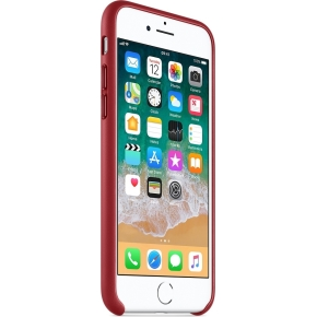 Apple iPhone 8/7 Leather Case, (PRODUCT)RED