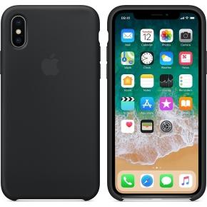 Apple iPhone X silikone cover, Black