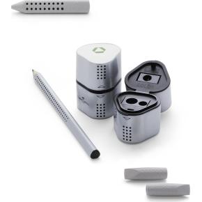Faber-Castell Grip 2001 Trio blyantspidser, grå