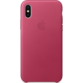 Apple iPhone X Leather Case, Pink