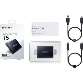 Samsung T5 ekstern SSD harddisk 1TB, sort