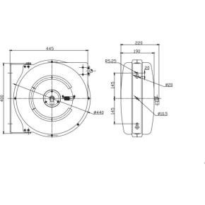 Flowconcept Automatisk slangeopruller 10 m 20 bar