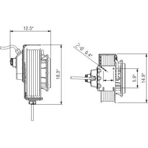 Flowconcept aut. industri kabelopruller 15 m 400V