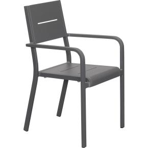 Outdoor Havemøbelsæt i aluminium, 6 pers.