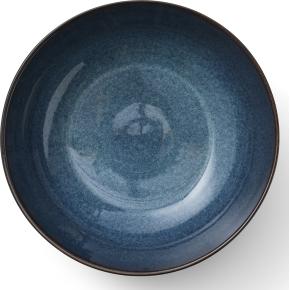 Bitz Salatskål sort stentøj med mørkeblå glasur