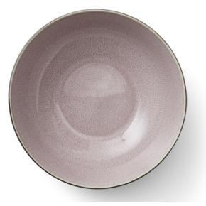 Bitz Salatskål sort stentøj med rosa glasur