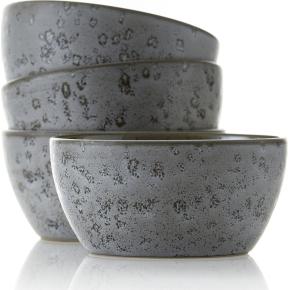 Bitz Skålesæt Ø12 cm, 4 dele, grå stentøj, sommer