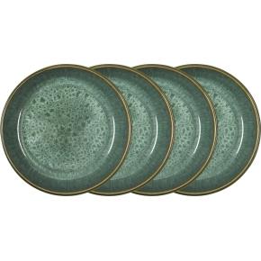 Bitz Gastro Dyb tallerken Ø18 cm, 4 stk. grøn/grøn