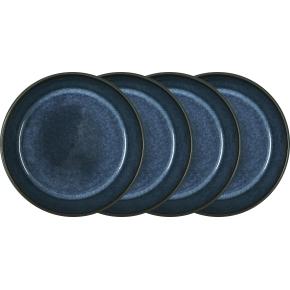 Bitz Gastro Dyb tallerken Ø18 cm, 4 stk., sort/blå