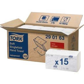 Tork H3 Advanced Håndklædeark, zig-zag fold, 15 pk