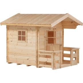 PLUS legehus m/terrasse ubeh. nåletræ 134x134+58cm