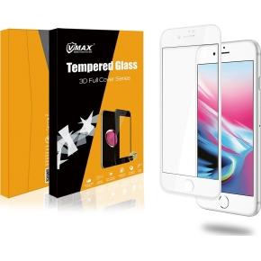 VMax 3D skærmbeskyttelse iPhone 6/6s/7/8Plus, hvid