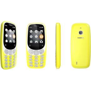 Nokia 3310 3G Mobiltelefon, gul