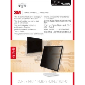 3M PF240W9F indrammet privacy filter, 24""