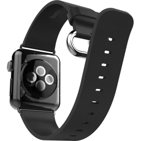 Hoco Læderrem til Apple Watch, 42mm, sort