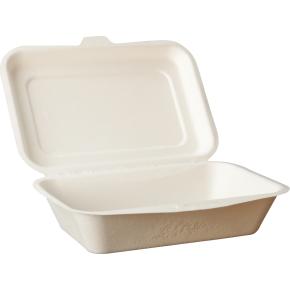 Komposterbar engangsboks, 18,3x13,5x4,3 cm, 450 ml
