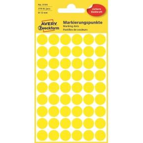 Avery 3143 Manuelle etiketter, 12mm, gul