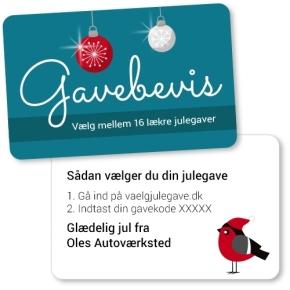 Gavebevis 2018 kr. 300 - gave lev. uge 50