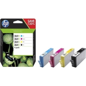 HP No364XL b/c/m/y blæk sampak