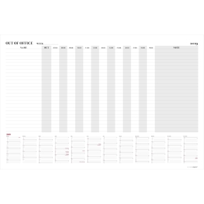 Mayland Whiteboard Out of office layout m/kalender