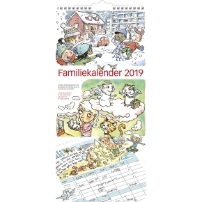 Mayland Familiekalender med illu., 6 kolonner