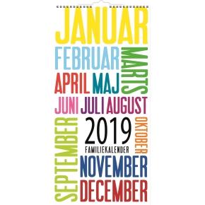 Mayland Familiekalender, måned, trendart, 6 kolon.