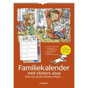 Mayland Familiekalender med stickers, 7 kolonner