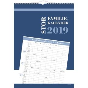 Mayland Stor Familiekalender, 7 kolonner
