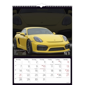 Mayland Vægkalender, 12 måneder, Biler