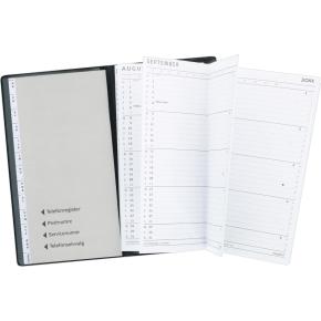 Mayland Index Planner, Foldet, måned, mørk grå