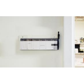 Mayland Dag-uge bordkalender, PVC-fri, grå