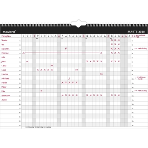 Mayland A3 Combi-Planner, månedsoversigt
