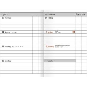 Mayland Lommekalender, uge, tværf., kunskind, blå