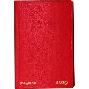Mayland Lommekalender, uge, tværf., kunstskind,rød
